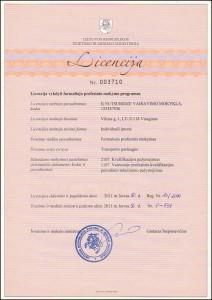Licencija profesiniam mokymui